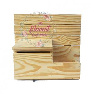 natural wood letter box,mdf
