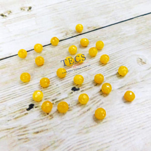 Yellow Natural Agate Stone Beads 6mm