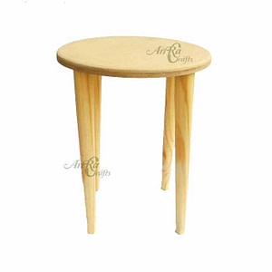 Wooden Stool For Decoupage