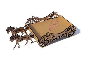 basket with horse shape,mdf,wood,craft