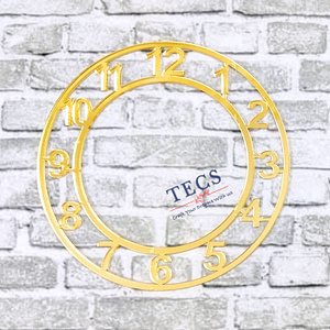 Golden Acrylic Number Clock Dial