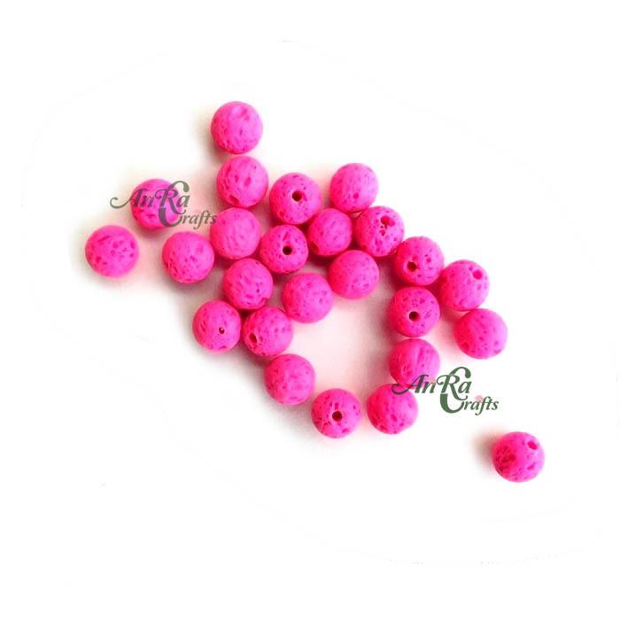 8mm Lava Beads