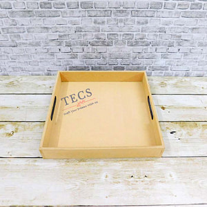 10x10x1.5 Inches Flat Handle Tray
