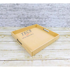 12x12x1.5 Inches Flat Handle Tray