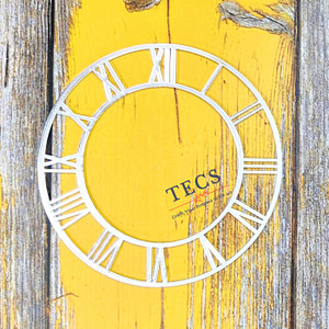 Silver Acrylic Roman Number Clock Dial