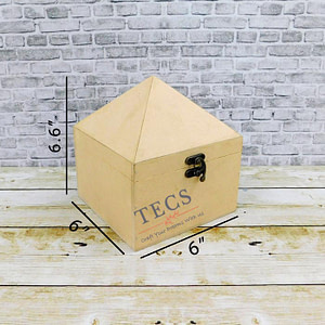 Pyramid Box 6x6x7 Inches