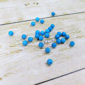 Sky Blue Natural Agate Stone Beads 6mm