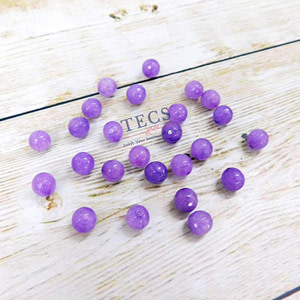 Purple Natural Agate Stone Beads 8mm