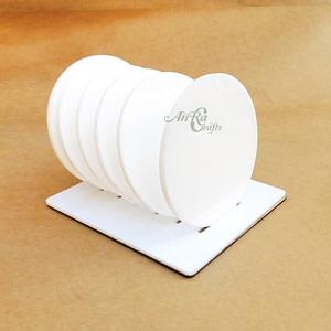 White Acrylic Coaster Set
