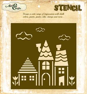 Summer Houses Stencil