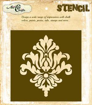 Damask Stencil Design