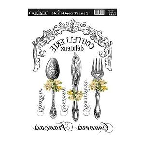 Delicious Cutlery - Home Decor Transfer
