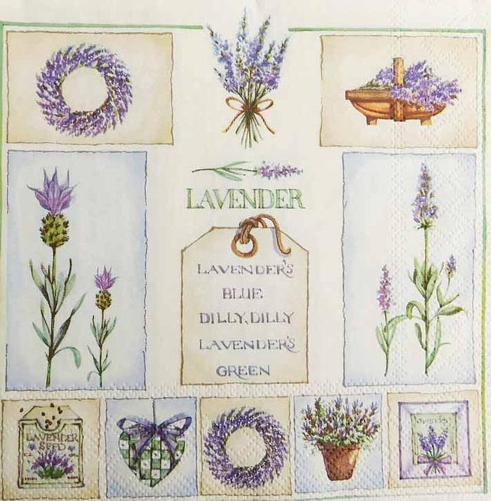 Lavender Flower Decoupage Tissue Paper