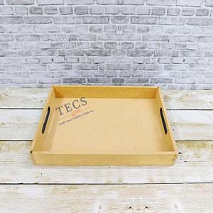 11x8x1.5 Inch Flat Handle Tray