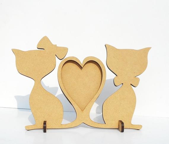 mdf cat shape photo frame