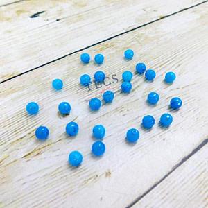 Aqua Blue Natural Agate Beads 6mm