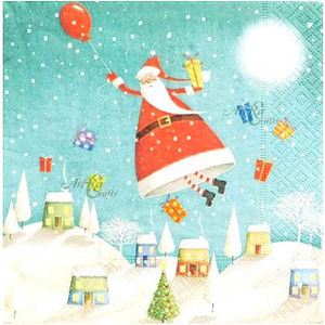Santa Claus Napkin Paper