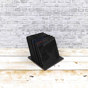 Black Acrylic Square Coaster Set