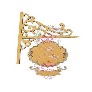 mdf hanging nameplate