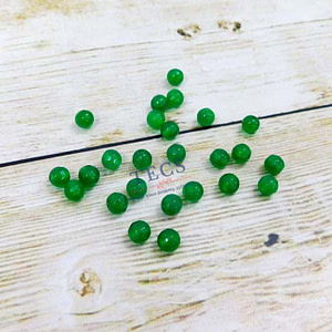 Green Natural Agate Stone Beads 6mm
