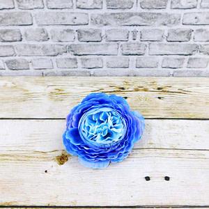 Big Cabbage Rose Blue