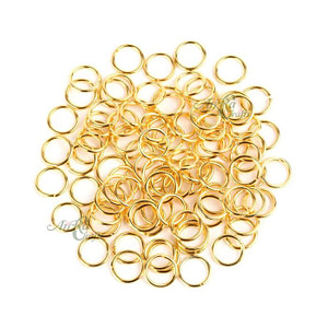 Gold Finish Jump Ring For Jewelry