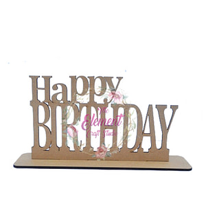 mdf happy birthday cutouts