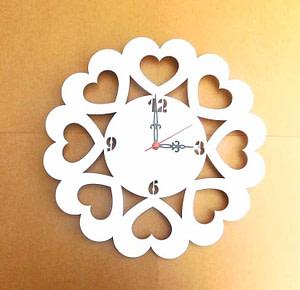 White Acrylic Clock Base