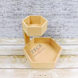 Hexagonal Double Story Basket