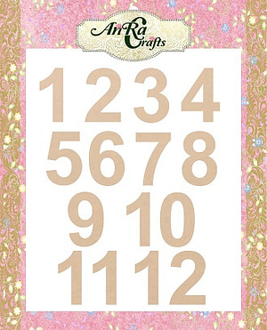 mdf number cutouts
