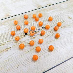 Orange Natural Agate Stone Beads 6mm