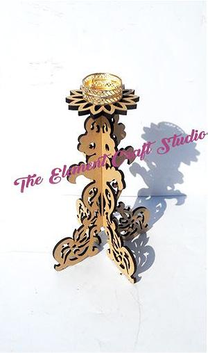 Intricate Cutwork Tea Light Holder