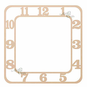 Wooden Cutout For Clock
